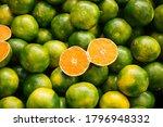 Freshly Picked Green Tangerine...