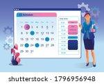 schedule events. business... | Shutterstock .eps vector #1796956948