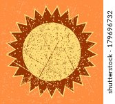 sun image with grunge pattern... | Shutterstock .eps vector #179696732