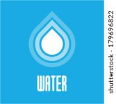 vector water drops icon   Shutterstock .eps vector #179696822