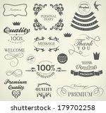 calligraphic design elements ... | Shutterstock . vector #179702258