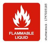 Flammable Liquid Symbol Sign ...