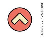 arrow up icon. simple color...