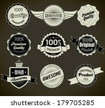 set of retro vintage labels. | Shutterstock . vector #179705285