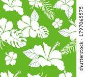 hibiscus flower hawaiian floral ...   Shutterstock .eps vector #1797065575