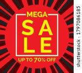 big sale banner in flat design  ... | Shutterstock .eps vector #1797086185