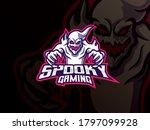 ghost mascot sport logo design. ... | Shutterstock .eps vector #1797099928