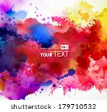 bright watercolor stains  | Shutterstock .eps vector #179710532