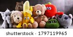Group Of Stuffed Animal Toys In ...