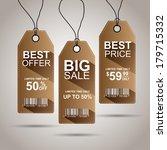 vintage sale tags | Shutterstock .eps vector #179715332