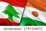 Lebanon And Niger Flags. 3d...