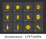 beer icons. vector illustration.
