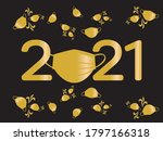 Gold And Black 2021 New Year...