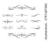 set of royal swirl dividers. ... | Shutterstock .eps vector #1797187585