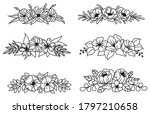 set of floral crown. collection ... | Shutterstock .eps vector #1797210658