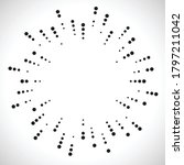 radial halftone dots in circle...   Shutterstock .eps vector #1797211042