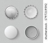 a set of white realistic bottle ... | Shutterstock .eps vector #1797219592