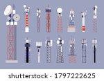 communication towers. satellite ... | Shutterstock .eps vector #1797222625