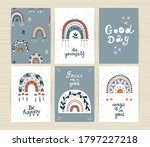 set of posters with boho... | Shutterstock .eps vector #1797227218
