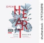 open your heart slogan with b w ... | Shutterstock .eps vector #1797243898