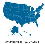 map of usa with separable... | Shutterstock .eps vector #17972515