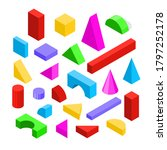 color wooden blocks toy icon... | Shutterstock .eps vector #1797252178