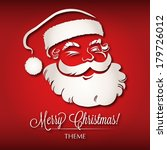 santa claus christmas theme   Shutterstock .eps vector #179726012