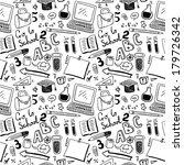 school objects. seamless pattern   Shutterstock .eps vector #179726342
