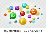 essential vitamin. colorful... | Shutterstock .eps vector #1797272845