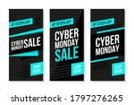 cyber monday promotional flyers ...   Shutterstock .eps vector #1797276265