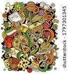 cartoon vector doodles italian...   Shutterstock .eps vector #1797301345