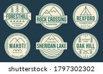 camp badge set. camping logos... | Shutterstock .eps vector #1797302302