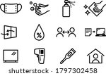 set of icons for anti corona... | Shutterstock .eps vector #1797302458