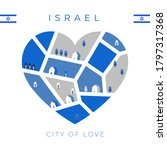 Flag Of Israel With Heart...