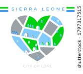 Flag Of Sierra Leone With Heart ...