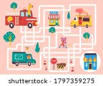 help the fire engine find the... | Shutterstock .eps vector #1797359275