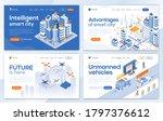 set of landing page design... | Shutterstock .eps vector #1797376612