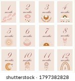 baby milestone cards collection ... | Shutterstock .eps vector #1797382828