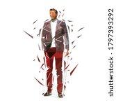 business man standing in suit...   Shutterstock .eps vector #1797393292
