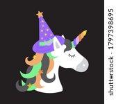 witch unicorn vector...   Shutterstock .eps vector #1797398695