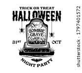 halloween vintage emblem with...   Shutterstock .eps vector #1797401572