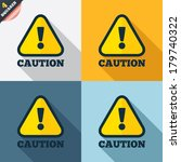 attention caution sign icon.... | Shutterstock .eps vector #179740322