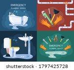 emergency plumbing illustration ... | Shutterstock .eps vector #1797425728