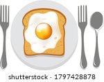 breakfast composition of... | Shutterstock .eps vector #1797428878