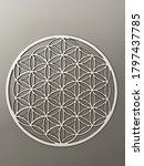 white flower of life pattern... | Shutterstock . vector #1797437785