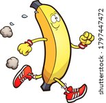 happy running banana. vector... | Shutterstock .eps vector #1797447472
