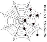 halloween background with... | Shutterstock .eps vector #17974648