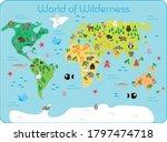 world of wilderness   map of... | Shutterstock .eps vector #1797474718