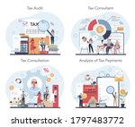 tax consultant concept set.... | Shutterstock .eps vector #1797483772