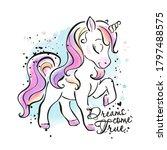 art. little unicorn....   Shutterstock .eps vector #1797488575